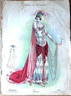 MODE ALBUM DE TRAVESTIS RECUEIL DE 16 GRANDES LITHOGRAPHIES  COLOREES NOMBREUX COSTUMES ET DEGUISEMENTS 1900 - Catalogues