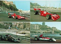 MONACO: Grand Prix De Monaco, Courses Automobiles. Bon Lot De 22 Cartes Entre 1972/1987. Détails Au Verso - Monaco