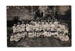 Réf. 179 - Carte-photo - Cérémonie Religieuse - Enfants (36) Indre - Buzançais - Personnes Anonymes