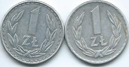 Poland - 1 Zloty - 1966 (KMY49.1) & 1986 (KMY49.2) - Poland
