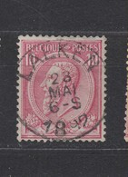 COB 46 Oblitération Centrale LAEKEN - 1884-1891 Léopold II