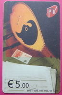Kosovo CHIP PHONE CARD 5 EURO Operator VALA900. Serial Big # UPSIDE DOWN 003... *TURKISH INSTRUMENT CIFTELI* RRR - Kosovo