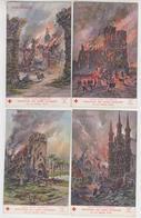MF178 -MILITARIA - LOT 9 CARTES -Guerre 1914-18 Illustrée Par FRAIPONT - Association Des Dames Françaises - Croix Rouge - Guerre 1914-18