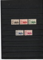 N° 153 à 157 = 5 TIMBRES ALGERIE NEUFS**  DE 1939   Cote : 18 € - Ungebraucht