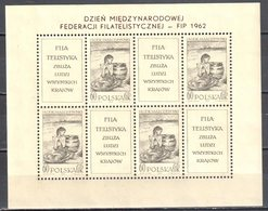 Poland 1962 - FIP Day Mi 1337 - Sheet - MNH (**) - Blokken & Velletjes
