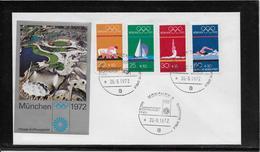 Thème Jeux Olympiques - Munich 1972 - Enveloppe - Summer 1972: Munich