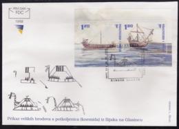 Bosnia, 2002, Old Ships, FDC - Barche