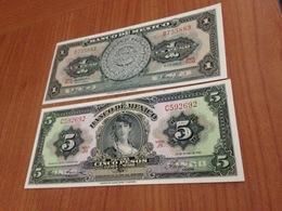 Lot De 2 Billets ( 1pesos+5 Pesos) NEUF - Mexico