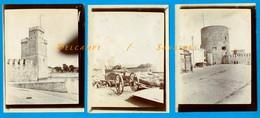 Charente-Maritime - La Rochelle - 3 Photos Originales Vers 1910 - Places