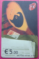 Kosovo CHIP PHONE CARD 5 EURO Operator VALA900. Serial Small # 006... *TURKISH INSTRUMENT CIFTELI* - Kosovo