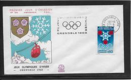 Thème Jeux Olympiques - Grenoble 1968 - Sports - Enveloppe - Winter 1968: Grenoble