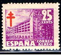 (3E 282) ESPAÑA // YVERT 237 A // EDIFIL 1019 // 1947  NEUF - Posta Aerea