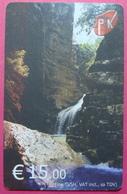 Kosovo CHIP PHONE CARD 15 EURO Operator VALA900. Serial # 0009... *Spring Or River White Drim* RARE - Kosovo
