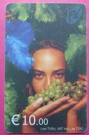 Kosovo CHIP PHONE CARD 10 EURO Operator VALA900. Serial # 0008... *Girl With Grape* RARE - Kosovo