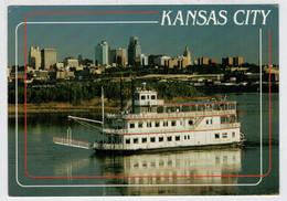 THE  MISSOURI  RIVER  QUEEN  GLIDES GENTLY PAST  KANSAS  CITY                      (VIAGGIATA) - Kansas City – Kansas