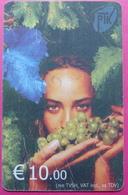 Kosovo CHIP PHONE CARD 10 EURO Operator VALA900. Serial # 004... *Girl With Grape* RARE - Kosovo
