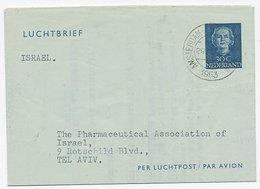 Luchtpostblad G. 6 Amsterdam - Tel Aviv Israel 1953 - Entiers Postaux