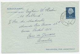 Luchtpostblad G. 7 Haarlem - Rio De Janeiro Brazilie 1954 - Entiers Postaux