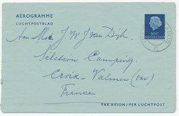 Luchtpostblad G. 10 Utrecht - Croix Valmer Frankrijk 1959 - Entiers Postaux
