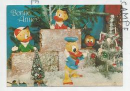Donald Duck, Riri, Fifi, Loulou Dans Un Décor De Noël. - Nouvel An