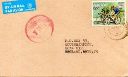 NAMIBIE. N°769 De 1996 Enveloppe Ayant Circulé. Cyclisme Aux J.O. D'Atlanta. - Cycling