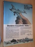 SPI2019 Page De SPIROU De 75/76 : PUBLICITE MAQUETTES PLASTIQUES HELLER Page A4 Me 109 - Avions