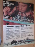 SPI2019 Page De SPIROU De 75/76 : PUBLICITE MAQUETTES PLASTIQUES HELLER Page A4 CUIRASSE JEAN BART TABAC - Bâteaux