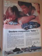 SPI2019 Page De SPIROU De 75/76 : PUBLICITE MAQUETTES PLASTIQUES HELLER Page A4 ALPINE A110 - Voitures