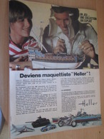 SPI2019 Page De SPIROU De 75/76 : PUBLICITE MAQUETTES PLASTIQUES HELLER Page A4 VOILIER LA SIRENE - Bâteaux