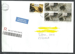 POLEN Poland 2019 Registered Letter To Estonia Spider Proteted Spiders - Insekten