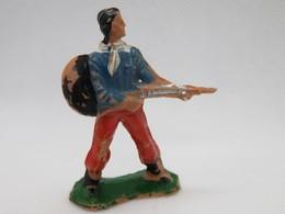 191 - Figurine Shérif étoilé Avec Carabine - Plastique Peint - Figurillas
