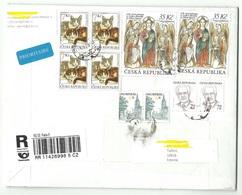 CZECH REPUBLIC Tschechien 2019 Registered Air Mail Cover To Estonia Cat Katze Religion Glaube Etc - Tchéquie