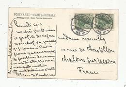 Oblitérations Sur Cp ,  Allemagne ,  BERLIN W ,  1907, 64 G ,  POTSDAM , Havellandschaft ,  3 Scans - Allemagne