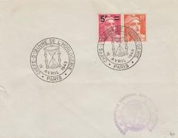 FRANCE - LETTRE CACHET COMMÉMORATIF CHEFS-D'OEUVRE DE L'HORLOGERIE 16.4.1949  PARIS  - Yv N°827-722 /1 - Matasellos Conmemorativos