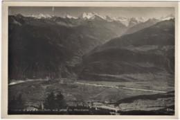 CPA Photo SIERRE Et Le Val D'ANNIVIERS Vue Prise De MONTANA (et Vercorin En Face) Edit: Art Perrochet Matile Lausanne - VS Valais