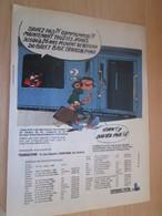 SPI2019 Page De SPIROU De 75/76 : FRANQUIN GASTON LAGAFFE PUBLICITE POUR LE BILLET BIGE - Publicité