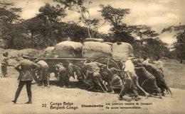 CONGO BELGE ELISABETHVILLE LES PREMIERS MOYENS DE TRANSPORT - Congo Belga - Otros