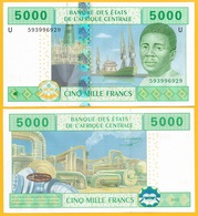 Central African States 5000 Francs Cameroon (U) P-209Ud 2002 UNC Banknote - États D'Afrique Centrale