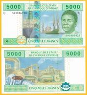 Central African States 5000 Francs Cameroon (U) P-209Ud 2002 UNC Banknote - Zentralafrikanische Staaten