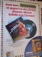SPI2019 Page De SPIROU De 75/76 : PUBLICITE POUR BANANIA DISNEY BELLE ET LE CLOCHARD - Cioccolato
