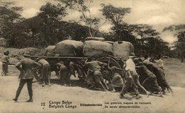 CONGO BELGE ELISABETHVILLE LES PREMIERS MOYENS DE TRANSPORT - Congo - Kinshasa (ex Zaire)