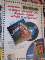 SPI2019 Page De SPIROU De 75/76 : PUBLICITE POUR BANANIA DISNEY BELLE ET LE CLOCHARD - Objets Dérivés