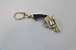 Vintage TOY GUN : KEYCHAIN Revolver - L=5cm - Keychain 1960s - Keywords : Cap - Cork Gun - Rifle - Pistol - Decotatieve Wapens