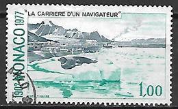 MONACO    -   1977 .   Y&T N° 1107 Oblitéré .   Paysage Polaire - Used Stamps