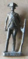 MONDOSORPRESA, (SLDN°53) KINDER FERRERO, SOLDATINI IN METALLO GUARDIA BRITANNICA G.B 1777-SCAME 40MM - Figurines En Métal