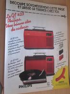 SPI2019 Page De SPIROU De 75/76 : PUBLICITE POUR ELECTROPHONE PHILIPS PORTABLE GF423 - Musik & Instrumente