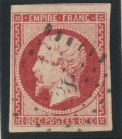 YT 17A Obl  80c Carmin, Jolie Pièce, TTB - 1853-1860 Napoléon III