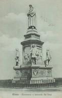 Cartolina  - Postcard /   Viaggiata -  Sent / Milano, Monumento A Leonardo Da Vinci. - Milano