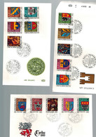 Luxembourg 3 FDC Timbres Caritas Armoiries De 1981-1983 - FDC
