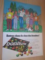 SPI2019 Page De SPIROU De 75/76 : PUBLICITE POUR BONBONS AU CHOCOLAT BONITOS Et Les Smarties C'est Du Poulet ? - Cioccolato